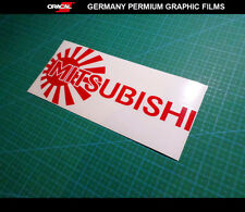 JDM LOGO MITSUBISHI SPORT RALLYART EVO LANCER evolution Car vinyl DECAL Sticker