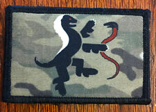 Multicam Team Honey Badger Morale Patch Tactical ARMY Hook Military Badge Flag