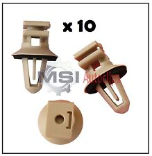 10 x BMW INTERIOR PLASTIC CLIPS for SILL and DOOR ENTRANCE TRIMS with SEAL RINGS