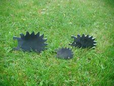 Igelfamilie 3 Igel für den Rasen Figur Dekoration Außen Deko Eisen Edelrost