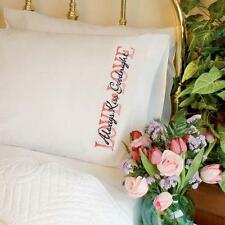Dimensions - LOVE Always Kiss Goodnight - Stamped Cross Stitch PILLOWCASE PAIR