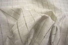 "IRISH LINEN MILLS OATMEAL STRIPE 100% IRISH LINEN FABRIC 6 OZ 60""W BY THE YD"