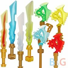 Lego Ninjago Weapon 4 Techno Blades Techno-Blade + 4 Elemental Swords Blades