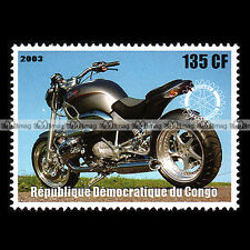 ★ CUSTOM BIKE BMW R1200 C ★ CONGO Timbre Moto Francobollo Motorcycle Stamp #376