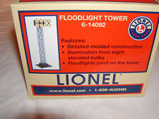 Lionel 6-14092 Floodlight Tower O 027 New MIB Illuminated 8 Bulbs and Pivots