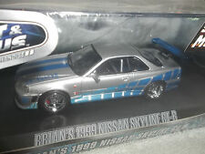 GREENLIGHT 1/43 HOLLYWOOD SERIES FAST & FURIOUS BRIAN'S 1999 NISSAN SKYLINE GT-R