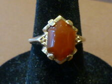 Vintage 10K Yellow Gold Carnelian Ring - Size 5.5