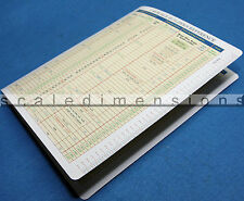 O Scale Builder's Reference Chart with Ruler 1/48 Scale ~ Only 3 Left!