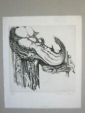 BÉALU François Gravure originale Eau-forte 69 Dédalus signé Amilly Erotisme Art