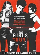 Two Girls And A Guy 1999 Magazine Advert #7386