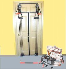Body by Jake Tower 200 Door Gym with Chart Guide NEW in Box + Bonus Straight Bar