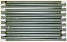 16 Used Stacking Aluminum 4' Mast Poles For Field Day Antennas Ribbed Camouflage