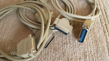 Set con 2x rs232 cable male/male + 1x cable impresora centronix/rs232 (cable 3)