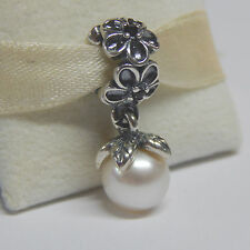 Authentic Pandora 790858P Odyssey White Spinel Dangle Box Included