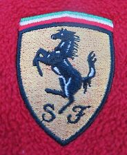 Authentic Ferrari SF Bright Red 1/4 Zip Embroidered Pullover Fleece Jacket Small