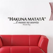 Art Means No Worries The Lion King Vinyl Wall Sticker Wall Decor Letters Decals