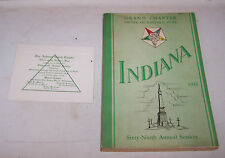 1943 INDIANA Grand Chapter ORDER OF THE EASTERN STAR Invitation & Program Book