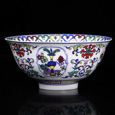Chinese Porcelain bowl of hand-painted Flower Branches and Leaves Qianlong M