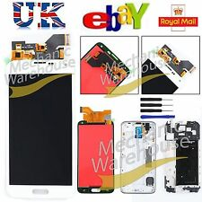 For Samsung Galaxy S5 i9600 G900F LCD Touch Screen Digitizer White Replacement