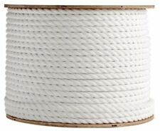 """ANCHOR ROPE DOCK LINE 3/4"""" X 100' 3 STRAND TWISTED 100% NYLON WHITE MADE IN USA"""