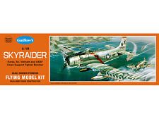 A-1H Skyraider Balsa Stick and Tissue Scale Model Airplane Kit 901, Rubber Power