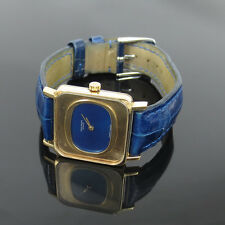 Vintage Patek Philippe Ref. 4183 18K Yellow Gold Blue Dial Square Watch
