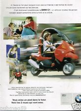Publicité advertising 2000 Moto BMW C1