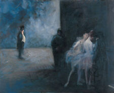 Backstage - Symphony in Blue Jean-Louis Forain Theater Ballerina Tanz B A3 02539