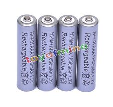 4pcs 1800mAh 1.2V Ni-MH AAA Rechargeable battery 3A Grey Cell for MP3 RC Toys