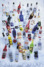 DRINKING POSTER Chill Out Vodkas 24x36