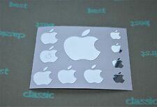 """10 Apple Aufkleber Logo, in """"CHROM""""  Sticker auch für MacBook ipad iphone ipod"""