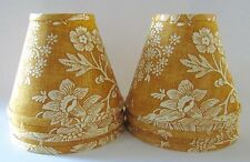 Pierre Deux Yellow La Declaration French Country Toile Lamp Shades Medium Set 6