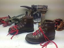 RAICHLE SWITZERLAND BROWN LEATHER MOUNTAINEER LACE UP ENGINEER BOSS BOOTS 10M