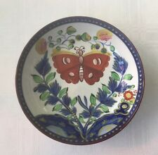 "Staffordshire Pearlware Gaudy Dutch 5 1/2"" Bowl-Butterfly c.1850's.       *2233"