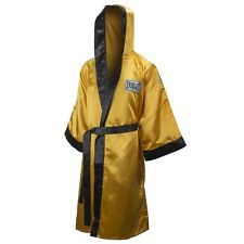 New Everlast Boxing Satin Robe Full Length w/ Hood Size: XX-Large Color: Gold