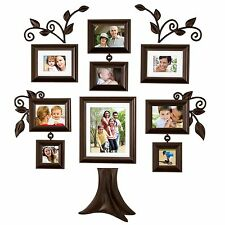 9 Piece Family Tree Wall Photo Frame Set hanging frames Picture Home Decor Gift