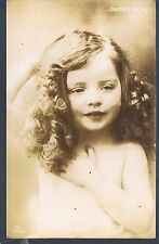 ARISTOPHOT RP POSTCARD A YOUNG PRETTY GIRL DADDIES DARLING LOVING BROTHER 1906