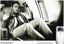 Publicité Advertising 2008 (2 pages) Parfum Play de Givenchy Justin Timberlake