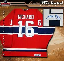 HENRI RICHARD Signed Montreal Canadiens Red CCM Jersey