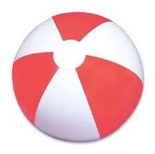 "3 RED AND WHITE  BEACH BALLS 12"" Pool Party Beachball NEW #AA2 Free Shipping"
