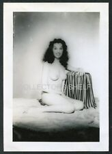 NAKED NUDE PRETTY EXOTIC WOMAN WWII ERA Photo PINUP ART TOPLESS RISQUE 1940s