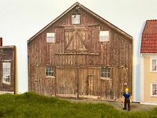 "*O Scale Scratch Built ""Brown Barn"" Farm Country Building Front/Flat, MTH Lionel"