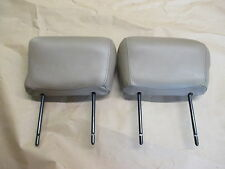93-95 Trans Am Coupe Tan Leather Front Seat Headrest Head Rest Pair 0624-27