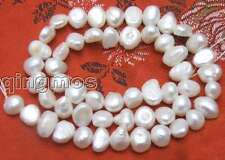 Vente 6-7mm blanc naturel freshwater baroque pearl loose bead-los405