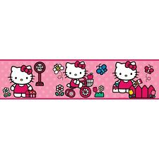 WORLD of HELLO KITTY 15' Wall Sticker Border Pink Polka Dot Room Decor Wallpaper
