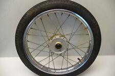 #4112 Yamaha QT50 QT 50 Yamahopper Chrome Front Wheel & Tire