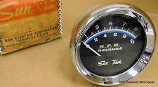 Sun ST-601 Tachometer, 10,000rpm, 8-Cylinder, 12 Volt, w/Hardware,