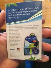 Brazil Rio 2016 Olympic USA Sponsor DELOITTE 1 Toucan Bird Pin New!