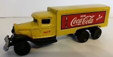 VINTAGE CAST IRON YELLOW COCA-COLA TRUCK