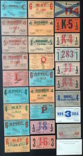 Collection of 64 San Diego Electric Railway Tickets Passes from the 1920s-1940s